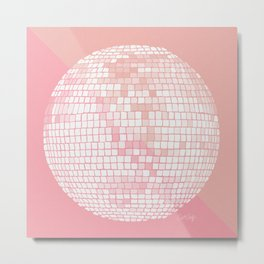 Disco Ball – Blush Metal Print
