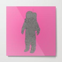 Astronaut Pink Metal Print