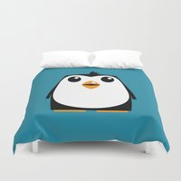 penguin Duvet Covers featuring Penguin by Pig's Ear Gear
