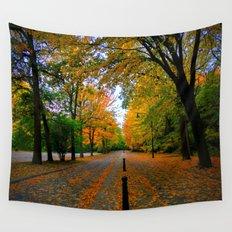 Fall road Wall Tapestry