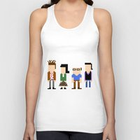 seinfeld Tank Tops featuring Seinfeld in 8 Bit by AutoMasta