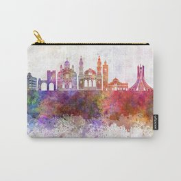 Algiers skyline in watercolor background Carry-All Pouch