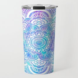 Mandala Pink Lavender Aqua Galaxy Space Travel Mug