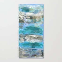 ROCK STUDY IN BLUES Canvas Print