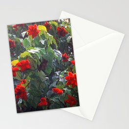 Exquisite Fuzzy Strawberry Flower Tree In Papua New Guinea Stationery Cards