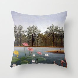 The Flamingoes Throw Pillow