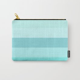 Ocean: Soft Blue Green Stripes Carry-All Pouch