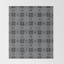 Sharkskin Floral Geometric Throw Blanket