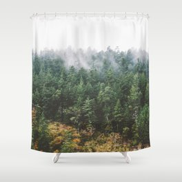 Foggy Vancouver Island Shower Curtain
