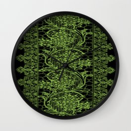 Greenery Lace Wall Clock
