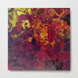 Composition #84 (shades of purple) Metal Print
