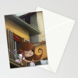"""""""hanging books"""" Stationery Cards"""