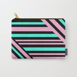Geometric pattern. Striped triangles 5 Carry-All Pouch