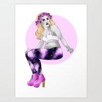 Chubby Girl Art Print