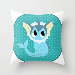 Vaporeon Throw Pillow