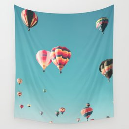 Hot Air Balloon Ride Wall Tapestry