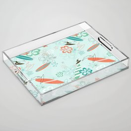 Surfs Up Blue Acrylic Tray