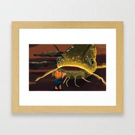 Lamboseng and the giant catfish Framed Art Print