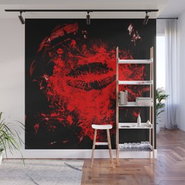 Gothic Bloody Kiss Wall Mural
