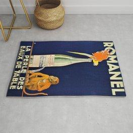 1915 Vintage Romanel, Aperitif Advertisement Poster Rug
