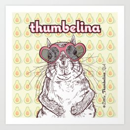 Little Thumbelina Girl: heart sunnies Art Print