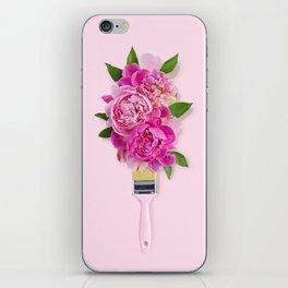 Peonies on Pink iPhone Skin