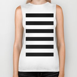 Simply Stripes in Midnight Black Biker Tank