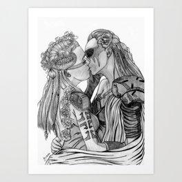 Clexa Wedding Art Print