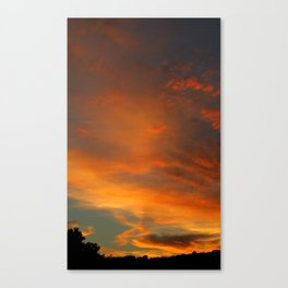 Flame Sky 2010 Canvas Print