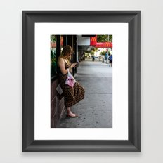 Leaning, Waiting Framed Art Print