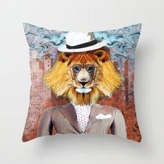 mister Lion Throw Pillow