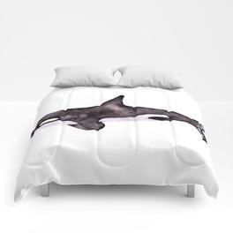 Watercolor Orca Killer Whale Comforters