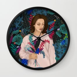 Lana in the jungle Wall Clock