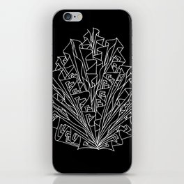 flame line art - black iPhone Skin