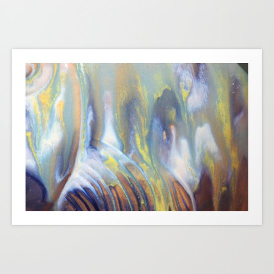 Colors mix Art Print