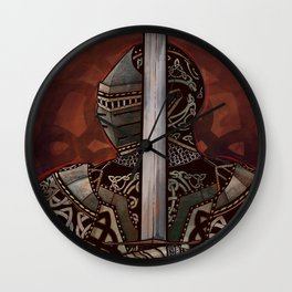 The Knotted Knight Wall Clock