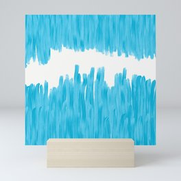 Sea of Blue Painted Mini Art Print