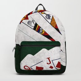 Poker Royal Flush Diamonds Backpack