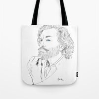 xena Tote Bags featuring Timothy Omundson by IamDeirdre