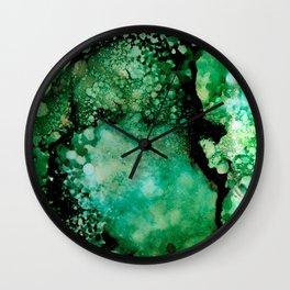Celestial Green Wall Clock