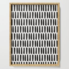 Bold Black Lines Serving Tray