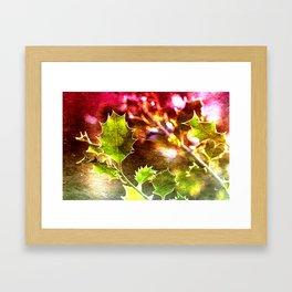 Festive Holly Framed Art Print