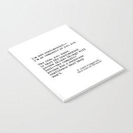 The romantic person - F Scott Fitzgerald Notebook