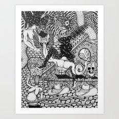 Two Sombreros Art Print