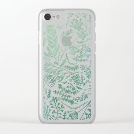GREEN HERBS Clear iPhone Case
