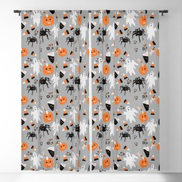 Spooky Halloween Spiders/Pumpkin/Ghosts/CandyCorn Blackout Curtain
