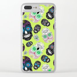Day Of The Dead, Sugar Skulls Clear iPhone Case