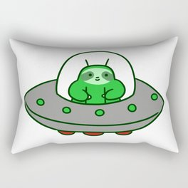 Alien UFO Sloth Rectangular Pillow