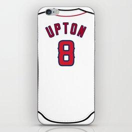 Justin Upton Jersey iPhone Skin