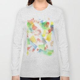 180527 Abstract Watercolour 15| Watercolor Brush Strokes Long Sleeve T-shirt